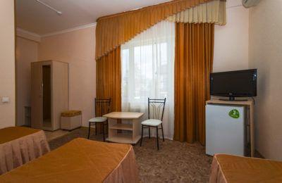 Корп. 2, 3-х местный 1 комнатный 20 кв.м (три односпальные кровати)